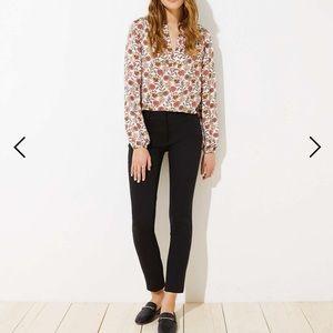 LOFT Skinny Ankle Pants Marisa Fit - Black